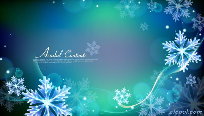 蓝色雪花背景图片_网页背景-网页素材库