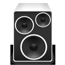 显示器音响软盘光盘手机主机超大黑白系列图标 图标 素材库 资料库